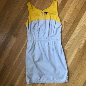 GAP Gray and Ochre Dress